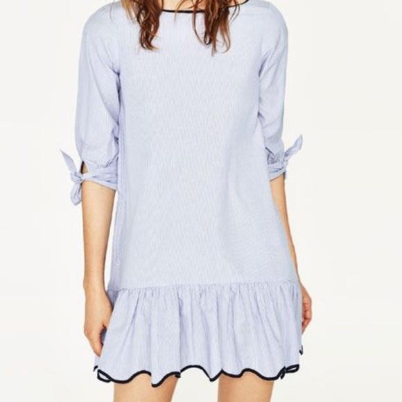 Zara Dresses & Skirts - Zara Striped Shirt Dress